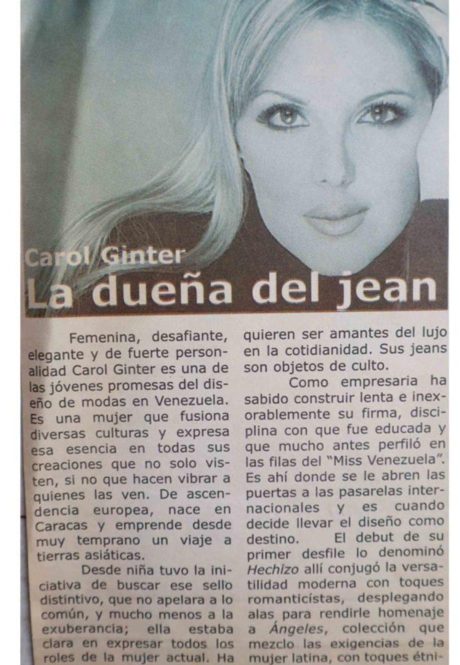 Carol Ginter Prensa Jean