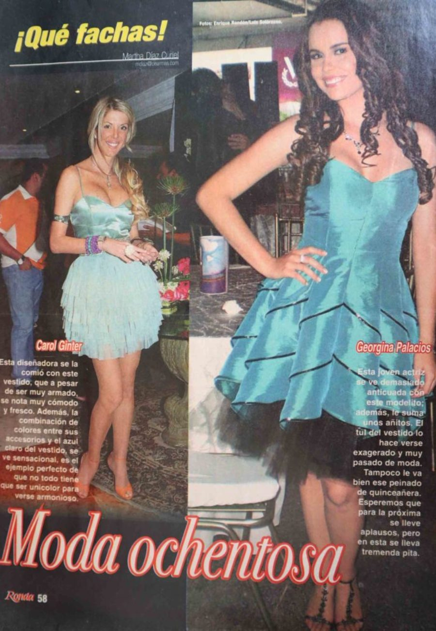 Carol Ginter Prensa Moda ochentosa