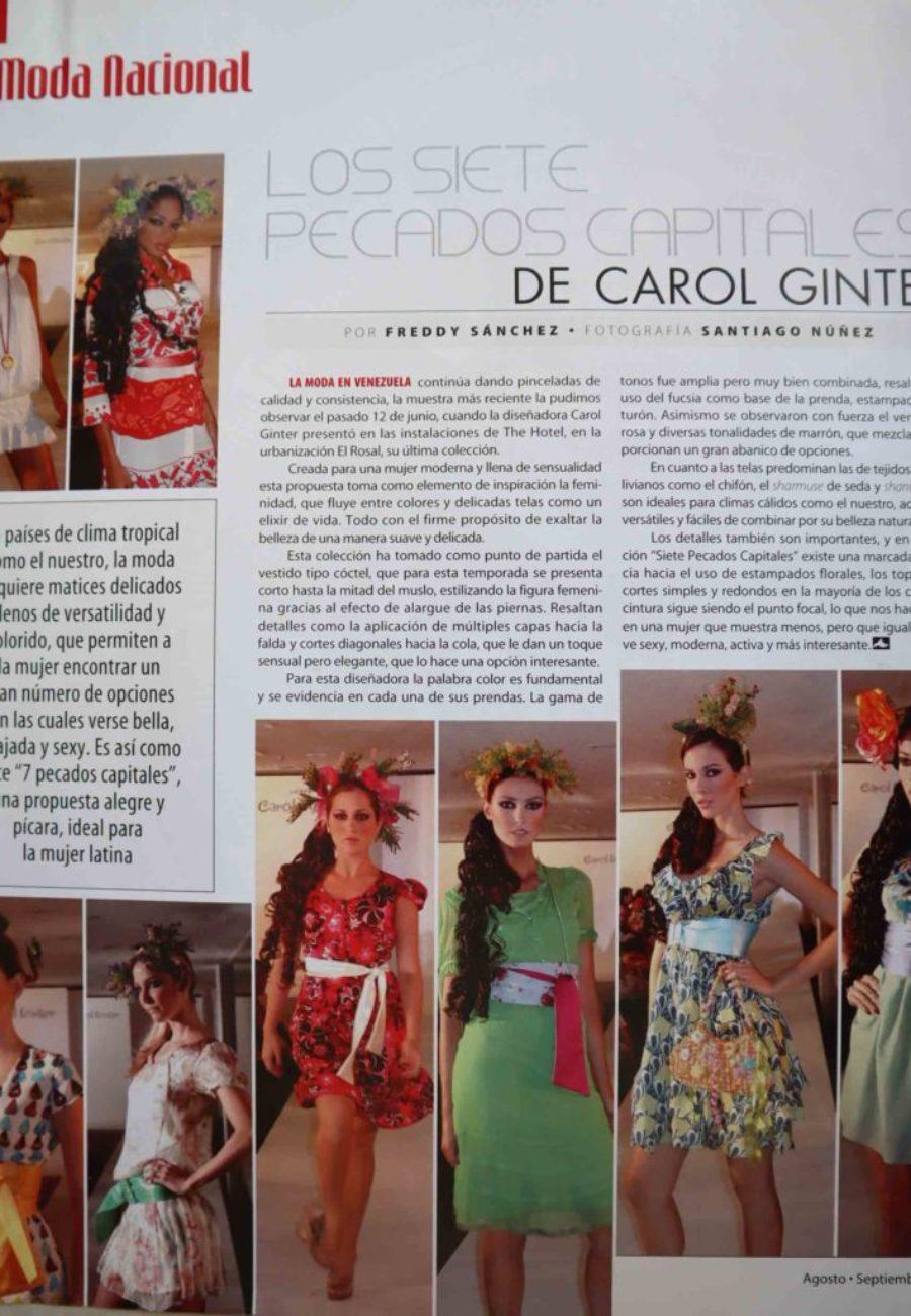 Carol Ginter Prensa Pecados