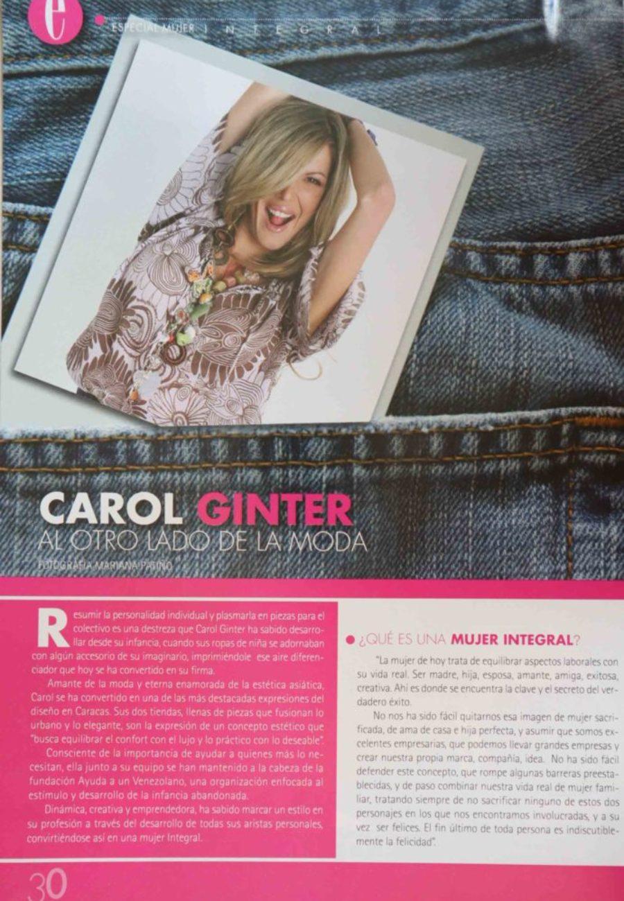 Carol Ginter Prensa otro lado moda
