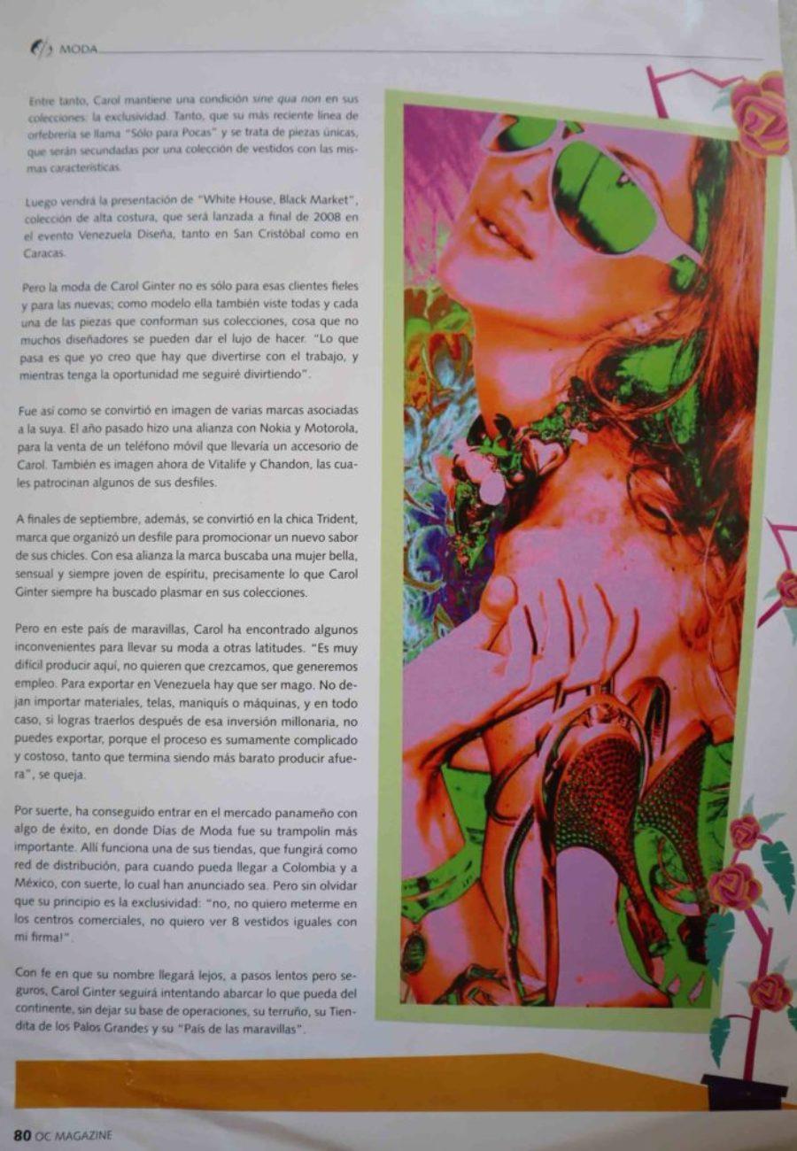 Carol Ginter Prensa revista 2